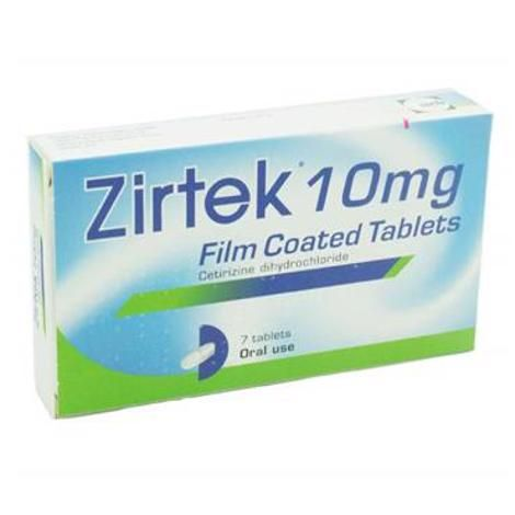 Zirtek Allergy Relief 10mg Tablets 7 Pack - dolanschemist.ie