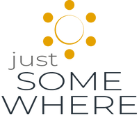 just SOMEWHERE - Logo mit Sonne