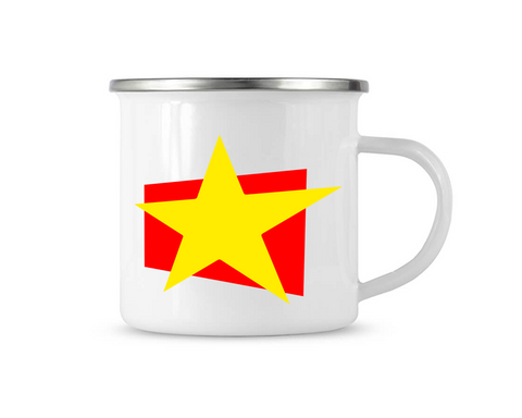 just A STAR | Kleine Retro-Emailletasse