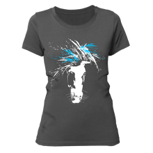 Laden Sie das Bild in den Galerie-Viewer, just WILD (blue) | Organic T-Shirt | Damen