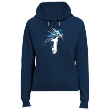 Laden Sie das Bild in den Galerie-Viewer, just WILD (blue) | Organic Hoodie | Damen