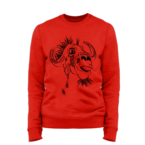 UNLEASH THE BUFFALO WITHIN | Organic Sweatshirt | Unisex