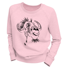 Laden Sie das Bild in den Galerie-Viewer, UNLEASH THE BUFFALO WITHIN | Organic Sweatshirt | Damen