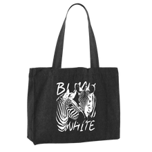 Laden Sie das Bild in den Galerie-Viewer, STRIPES - BLACK & WHITE | Shopping Bag