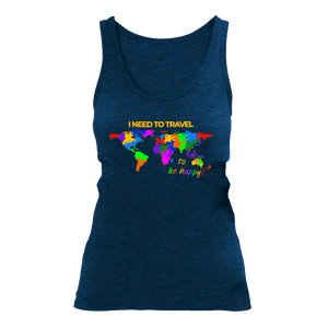 I NEED TO TRAVEL | Organic Tanktop | Damen