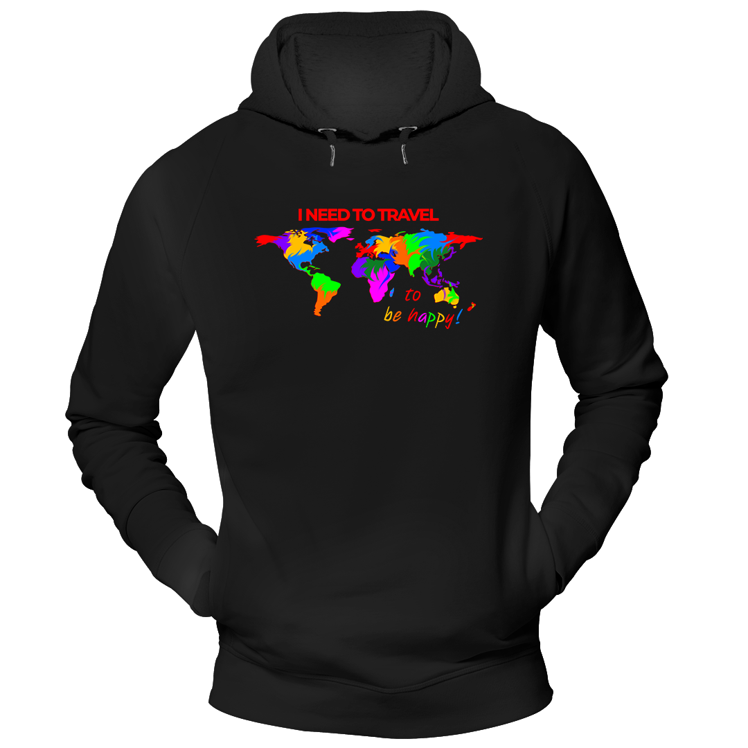I NEED TO TRAVEL | Organic Kapuzensweatshirt | Herren