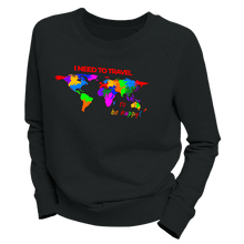 Laden Sie das Bild in den Galerie-Viewer, I NEED TO TRAVEL | Organic Sweatshirt | Damen