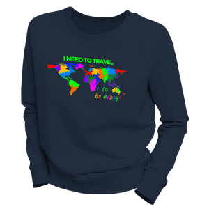 I NEED TO TRAVEL | Organic Sweatshirt | Damen