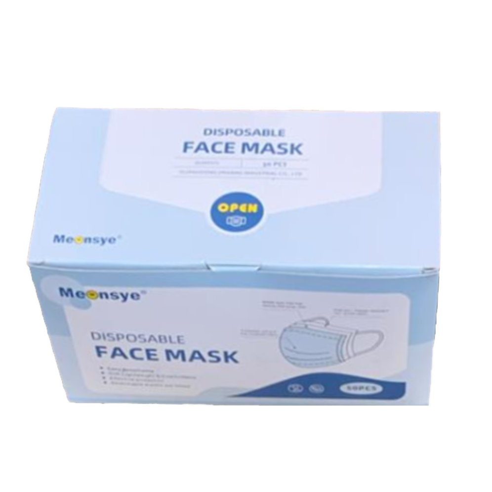 Disposable Face Masks (50 Pack)