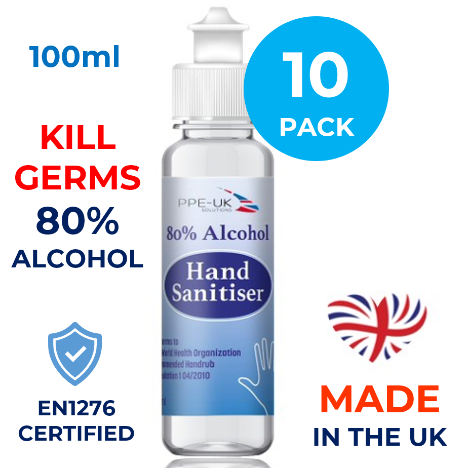 Hand Sanitiser 100ml (10 Pack)
