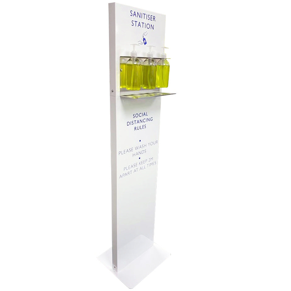 Floor Standing Sanitiser Station