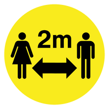 Load image into Gallery viewer, Social Distancing Floor Sign 400mm - Keep 2m Apart (25 Pack)