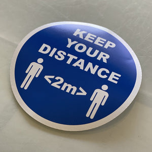 Social Distancing Adhesive-Free Window Stickers 150mm - Keep Your Distance (25 Pack)