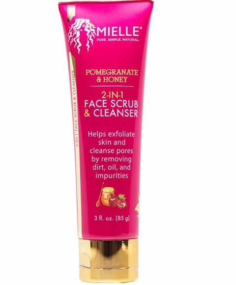 Pomegranate And Honey 2 In 1 Face Scrub And Cleanser