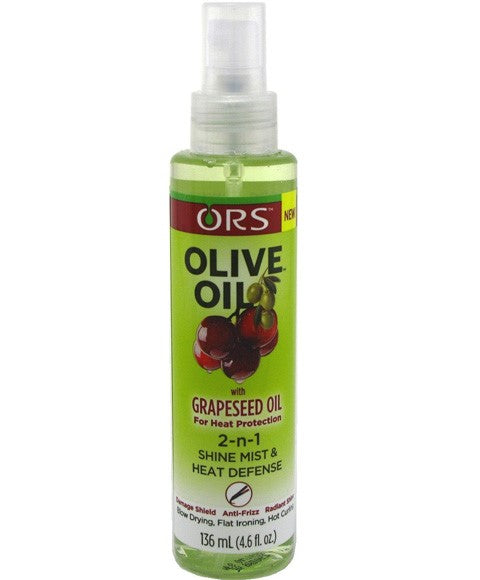 Olive Oil With Grapeseed Oil 2 N 1 Shine Mist And Heat Defense