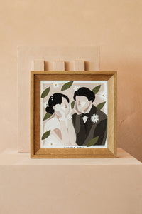 Wedding digital illustration / Square Frame