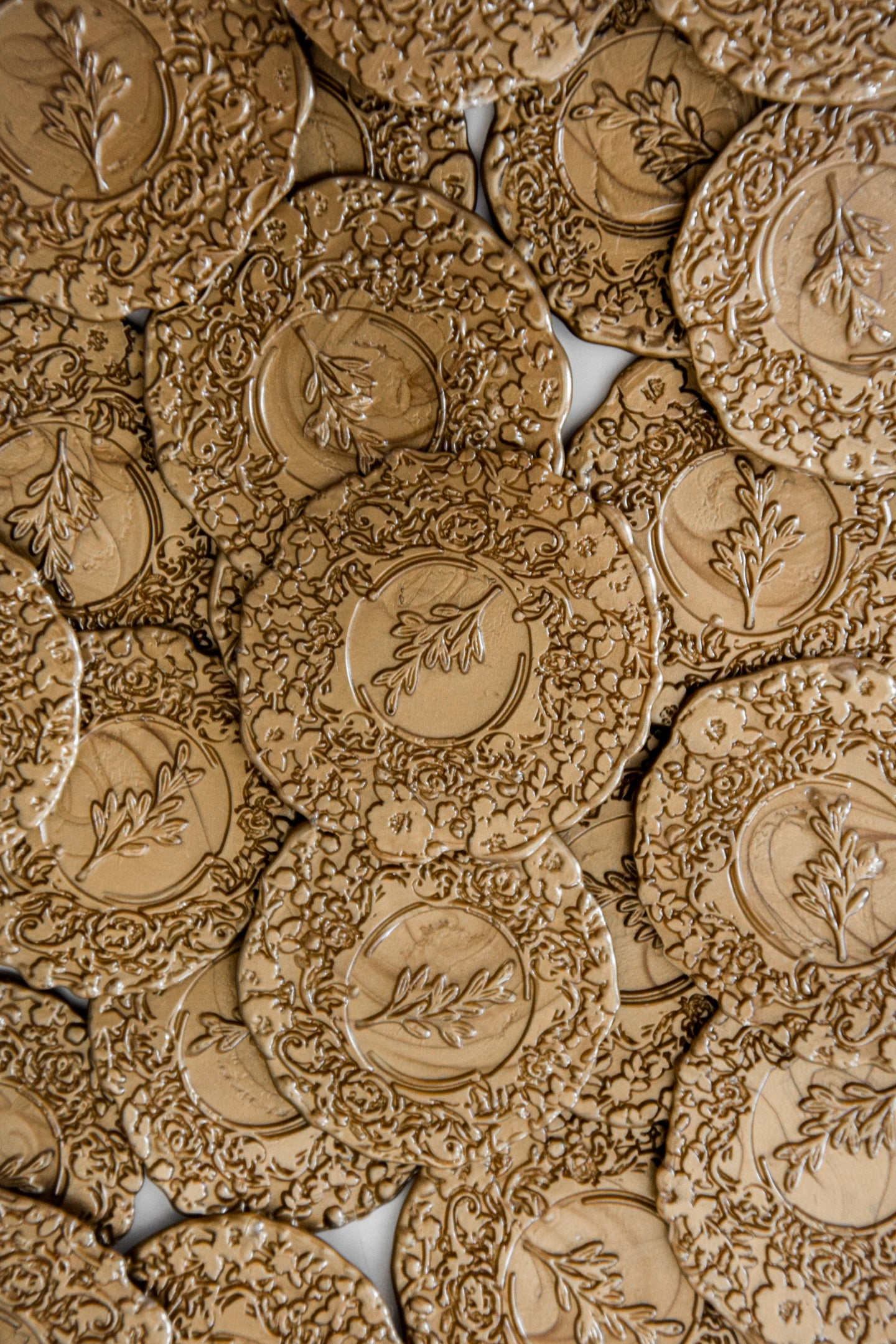 Wax Seals - Large Flower - Set of 10