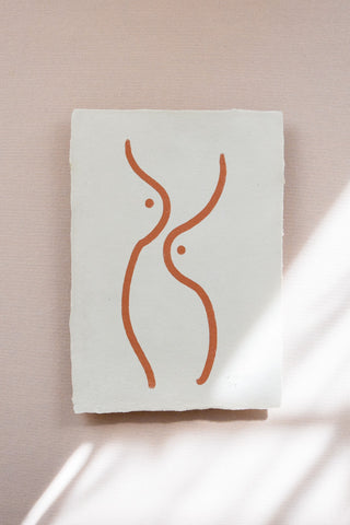 'BREAST' DRAWING PRINT