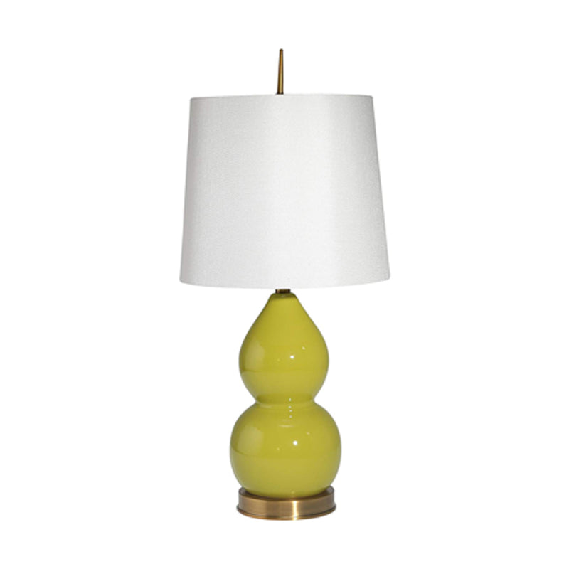 Table Lamp Ceramic 29 Double Gourd Green - SageBrook