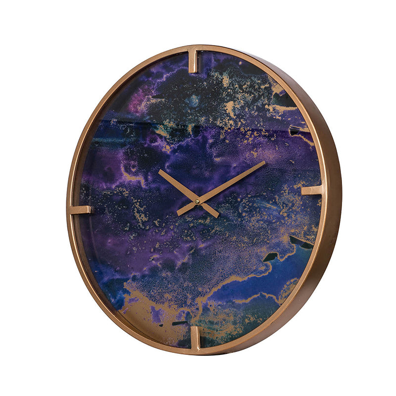 Wall Clock 43977-PURP-DS