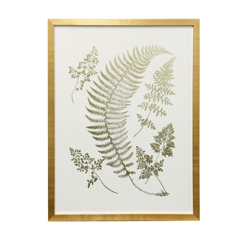 Wall Decor Gold Foil Ferns WM12579