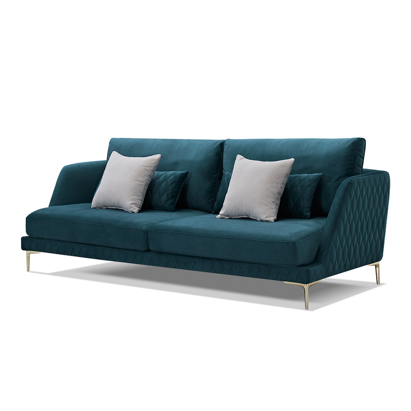 Teal Sofa Set (3+3+1+1)