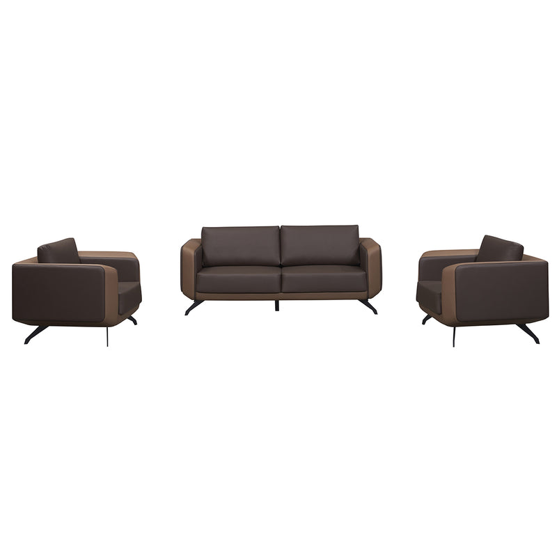 Umber Walnut Sofa Set (3+3+1+1)