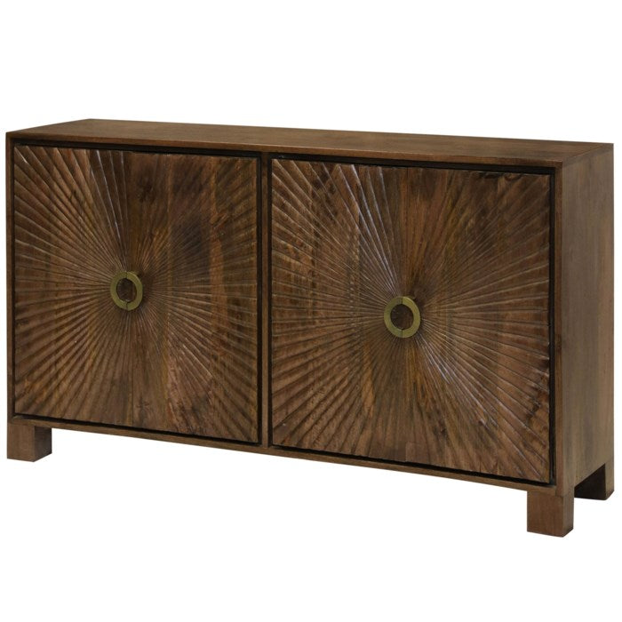 Starburst Embossed 4 Door Cabinet