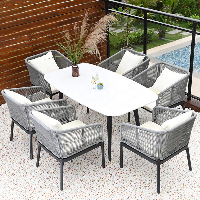 Outdoor Dining Set (DT1+AC6) - Nabco