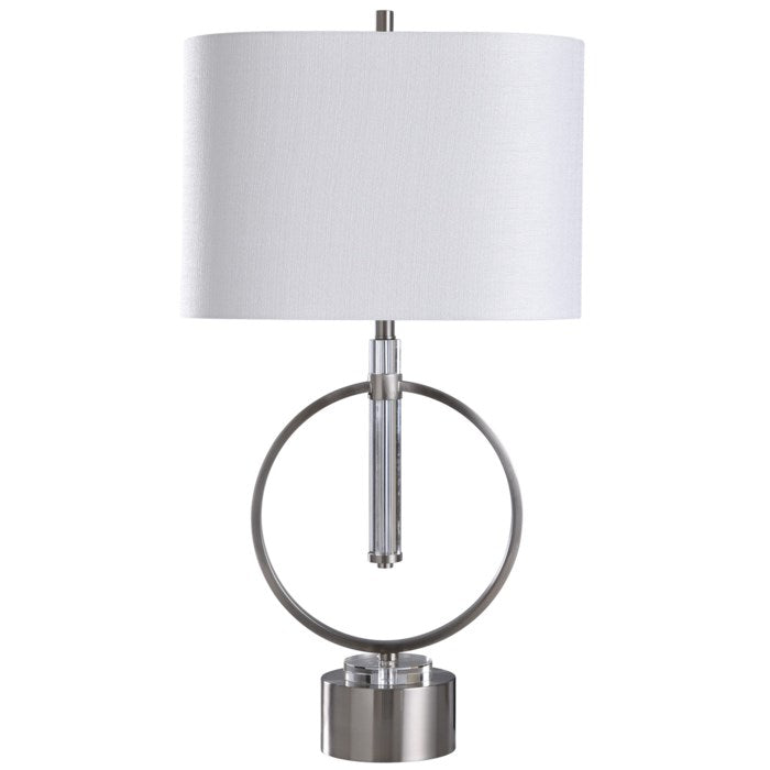 Table Lamp Brushed Steel