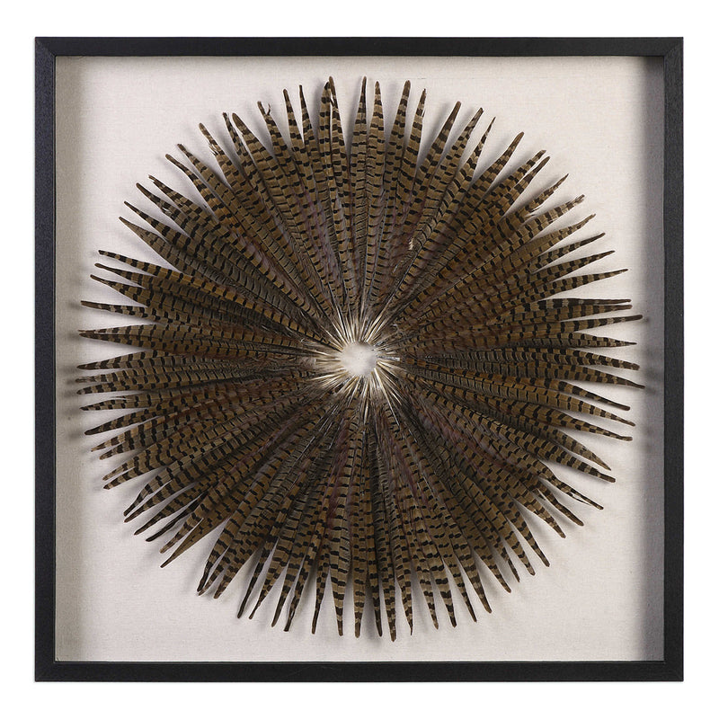 Wall Decor Feather Burst Shadow Box - Uttermost