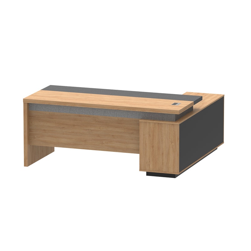 Office Desk Oak Left 180 cm - Nabco