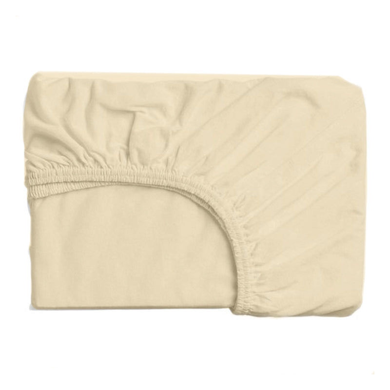 Fitted Sheet Beige 120X200