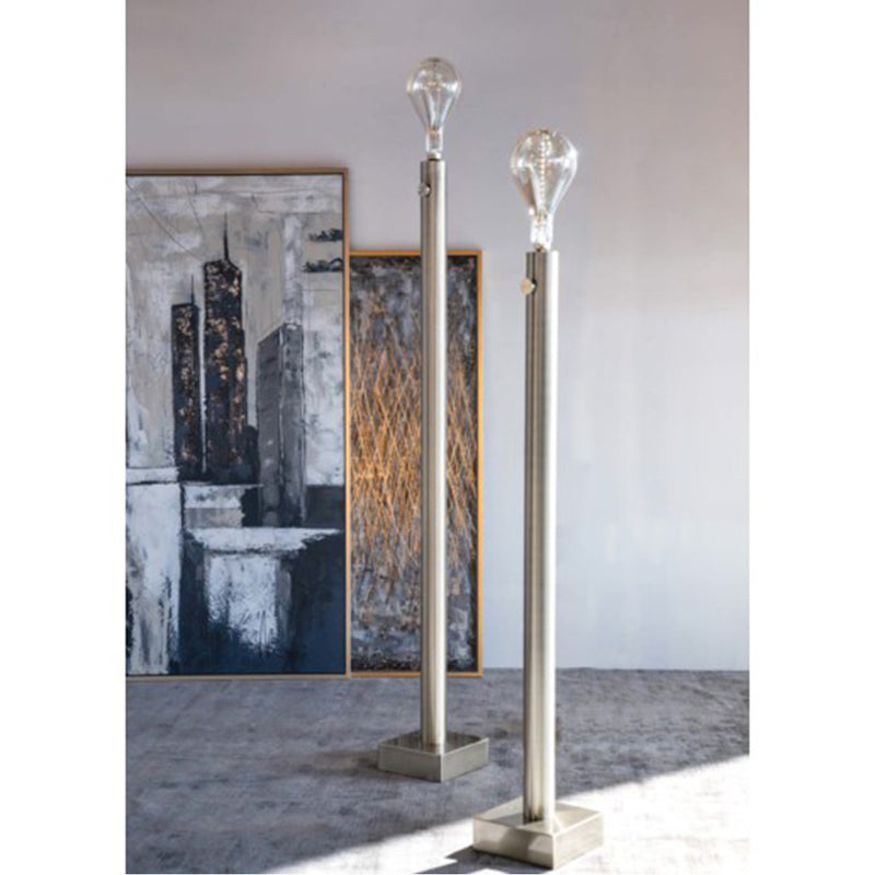 Barclay Nickel Floor Lamp - Set of 2 - Harp and Finial