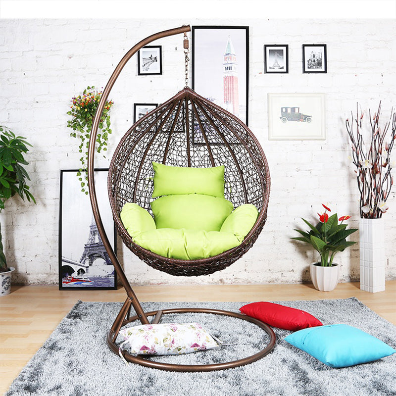 Swing Chair Brown with Green Cushion - Nabco Furniture Center