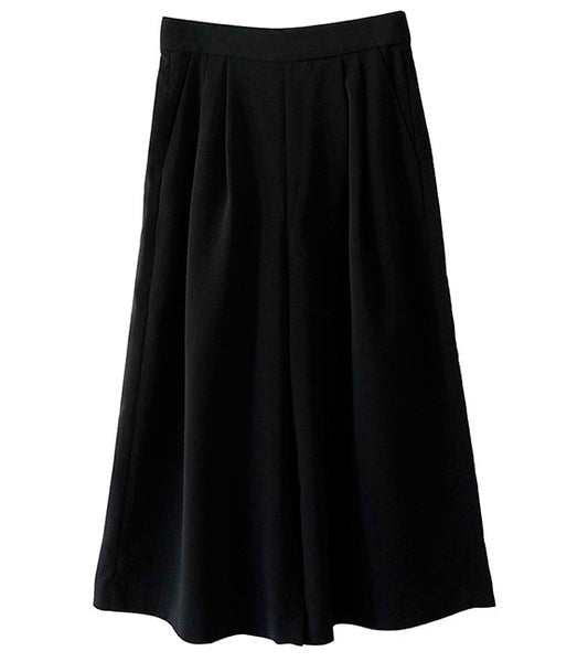 Cmeo Collective Power Trip Culotte in Black - Front View
