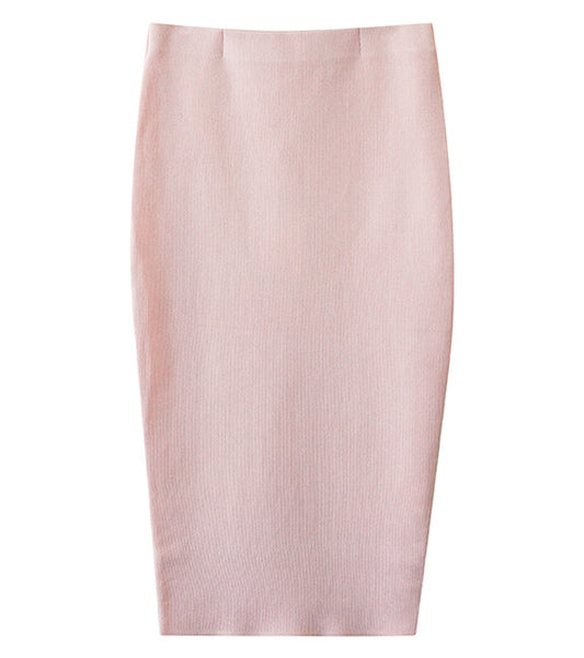 Cmeo Collective Sober Thoughts Skirt in Baby Pink - Front View