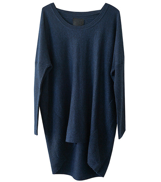 Just Female Carla Knit Blouse in Navy