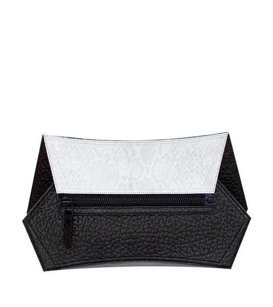 VERTIGO Small Cross Body Clutch (Arctic Python)