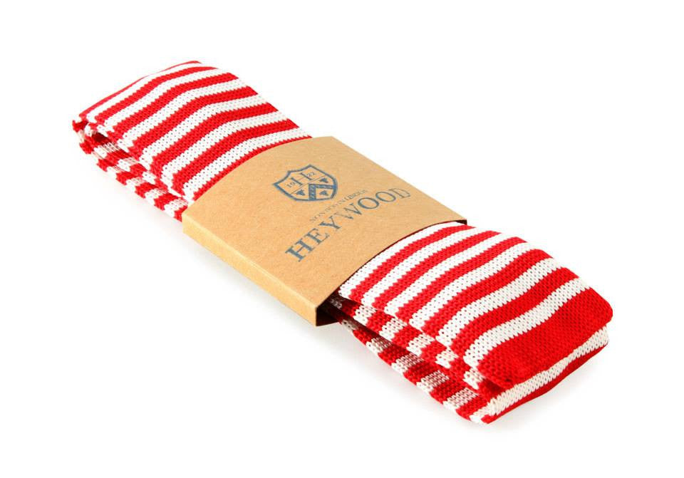 Red White Stripe Neck Tie