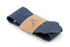 Chambray Polka Pointed Neck Tie