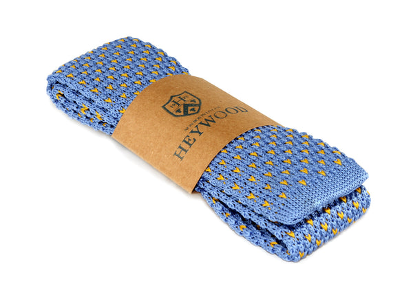 Sky Yellow Dash Neck Tie