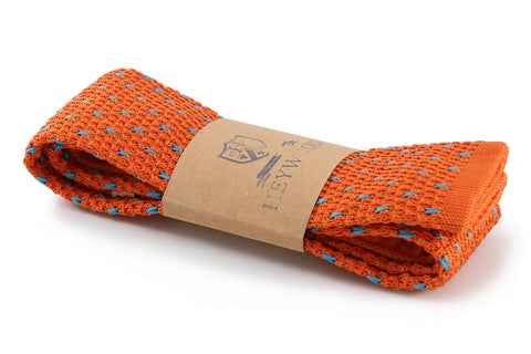 Orange / Blue Dash Neck Tie