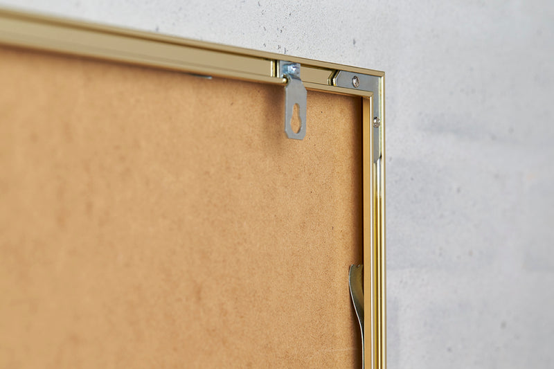 Alu Frame A3 - Golden - Glass