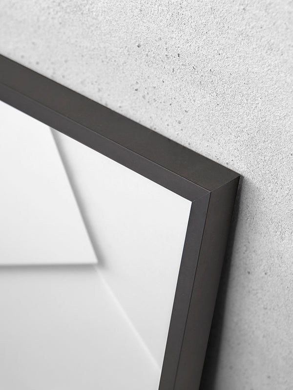 Alu Frame A5 - Black - Glass