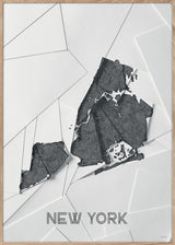 Maps New York - A5 - White / Grey