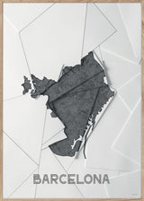 Maps Barcelona - A5 - White / Grey