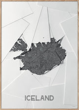 Maps Iceland - A5 - White / Grey