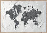 Maps Our World, 70x100cm - White / Grey