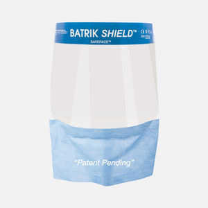 Batrik Faceshield with Drape - Saveface™ (Box of 96)